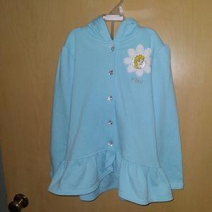 Disney Blue Elsa Hoodie Size 6 New